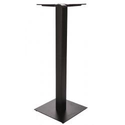 Statafelonderstel metaal met 40 x 40 cm vierkante voet 108 cm hoog
