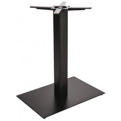 Tafelonderstel metaal met 60 x 40 cm rechthoekige voet